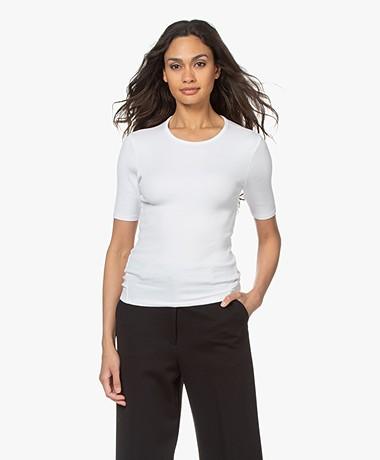 Rag & Bone The Essential Rib Pima Cotton T-shirt - White