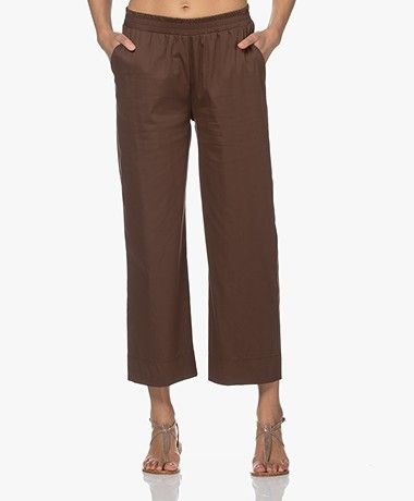 LaSalle Stretch Cotton Pull-on Pants - Choco