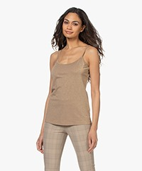 no man's land Viscosemix Lurex Singlet - Goud