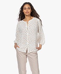 Josephine & Co Lincoln Crepe Viscose Print Blouse - Mocca