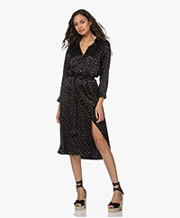 Plein Publique La Moye Printed Cupro Shirt Dress - Black