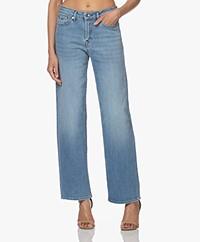 Denham Bardot Straight Stretch Jeans - Lichtblauw