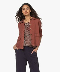 indi & cold Viscose Twill Jacket - Terracotta