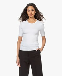 Rag & Bone The Essential Rib Pima Katoenen T-shirt - Wit