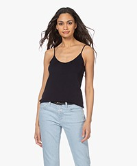 Josephine & Co Lisa Knitted Spaghetti Strap Top - Navy