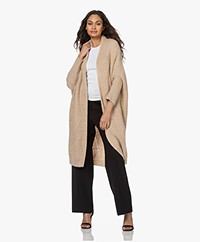 by-bar Pippa Long Open Cable Cardigan - Sand