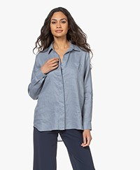 Repeat Linen Shirt - Dusty Blue