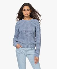 Resort Finest Zita Chunky Knit Sweater - Azur