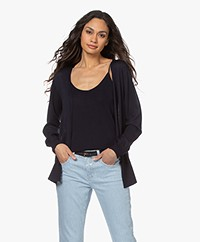 Josephine & Co Lise Tencel Blend Short Open Cardigan - Navy