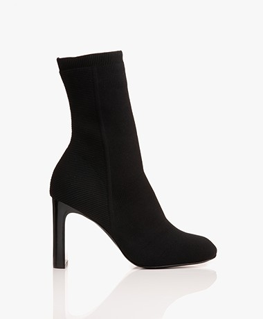 Rag & Bone Ellis Knit Sock Ankle Boots - Black