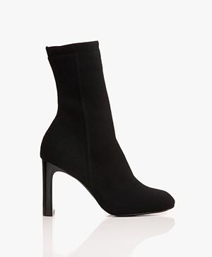 Rag & Bone Ellis Knit Sock Ankle Boots - Black