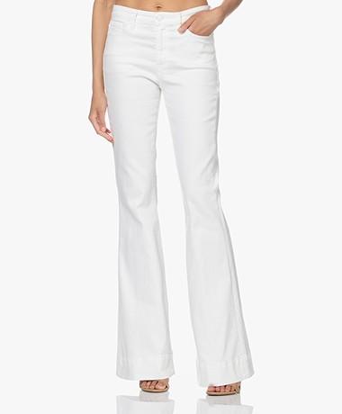 Denham Jane High-rise Flared Jeans - Off-white