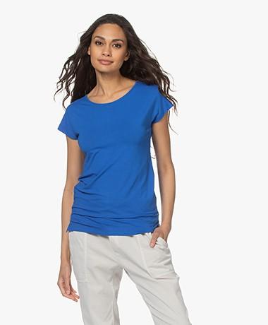 Kyra & Ko Dedina Viscose T-shirt - Bright Blue