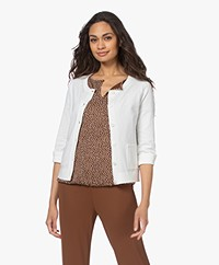 Kyra & Ko Malin Short Cotton Blend Button-through Cardigan - Warm White