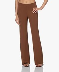 Kyra & Ko Kess Crepe Jersey Pants - Chocolate