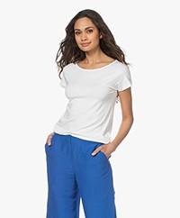 Kyra & Ko Dedina Viscose T-shirt - Warm White