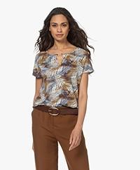 Kyra & Ko Lumi Jersey Print T-shirt - Chocolate