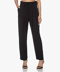 IRO Rexo Pleated Crepe Pants - Black