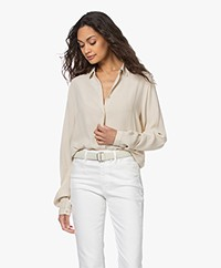 by-bar Jonna Viscose Crepe Blouse - Cream