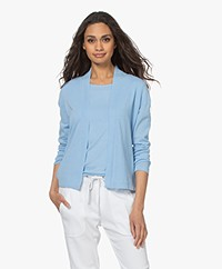 Kyra & Ko Casia Cotton Open Cardigan - Sky Blue
