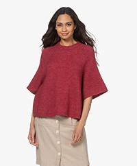 American Vintage East Sweater with Cropped Sleeves - Vine Peach Melange