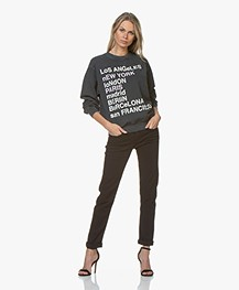 Anine Bing City Love Sweatshirt - Charcoal