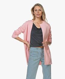Sibin/Linnebjerg Vera Halflang Open Vest - Blossom Pink