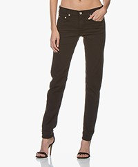 Rag & Bone Dre Low-rise Slim Boyfriend Jeans - Aged Black