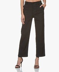 Ragdoll LA Surplus Twill Straigh-Leg Pants - Faded Black