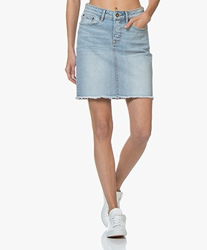 Denham Monroe Denim Mini Skirt - Blue