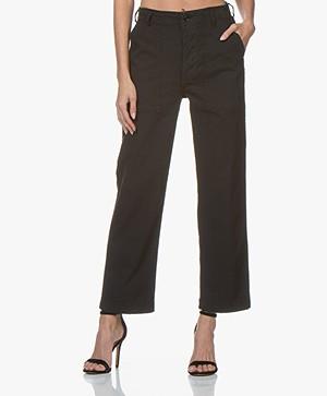 Ragdoll LA Surplus Twill Straigh-Leg Pants - Faded Black