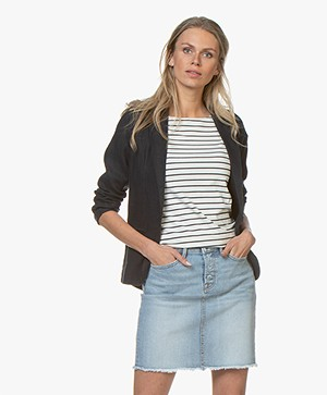 Majestic Filatures Linen and Cotton Blazer - Marine