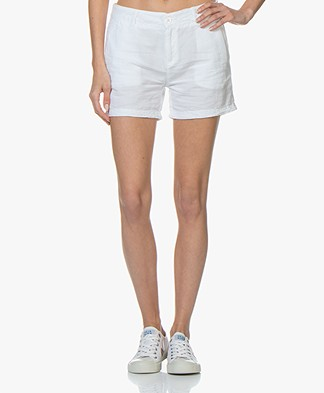BRAEZ Linen Shorts - White