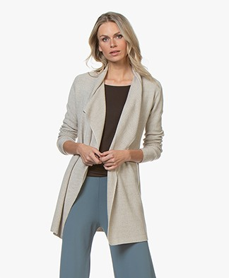 Belluna Jacky Open Moss Knit Cardigan - Light Beige