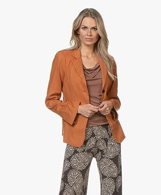 Woman by Earn Ann Linnenmix Blazer - Burnt Orange
