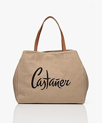Castaner New York Linen Shoulder Bag - Natural Beige