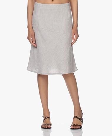 Belluna Horizon Linen A-line Skirt - Sand Melange