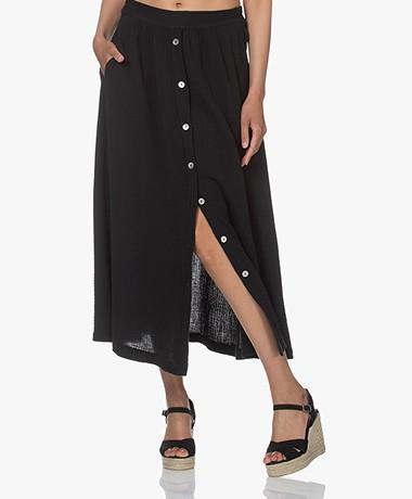 by-bar Nine Muslin Midi Skirt - Jet Black