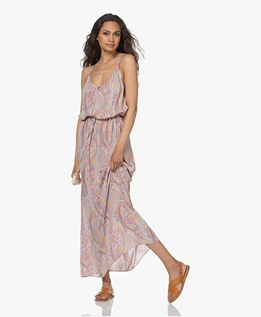 Vanessa Bruno Razzia Paisley Printed Viscose Dress - Rose