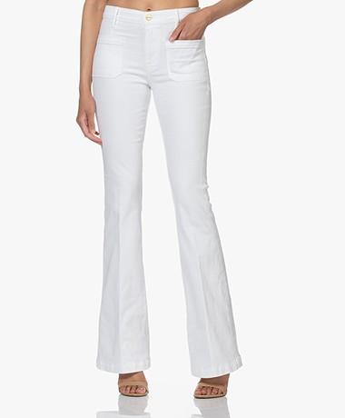 FRAME Le Bardot Flare Stretch Jeans - Wit