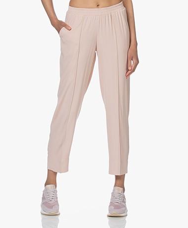 LaSalle Crepe Satin Pants - Blush