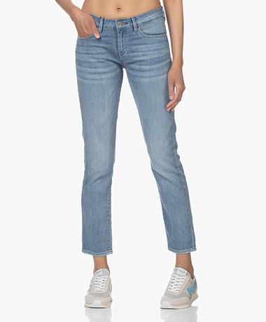 Denham Liz Ankle Straight Fit Jeans - Mid Blue
