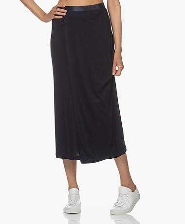 Filippa K Viola Jersey Midi Skirt - Navy