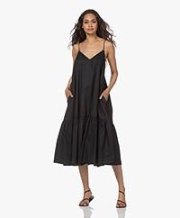 ANINE BING Averie Cotton Poplin Dress - Black