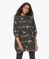 Ragdoll LA Super Oversized Print Sweatshirt - Camo Army