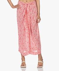 Josephine & Co Lotta Crepe Viscose Maxi Skirt - Coral