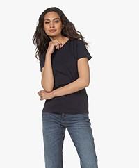 Filippa K Cotton R-neck T-shirt - Navy