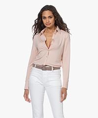LaSalle Tencel Jersey Blouse - Blush