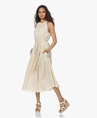 Vanessa Bruno Roema Embroidered Sleeveless Dress - Coquille