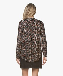 by-bar Dana Viscose Floral Printed Blouse - Vintage Green